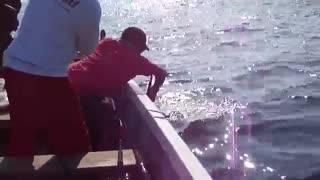 ماهیگیری با قلاب در دریا