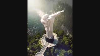 منظرهای متفاوت از مجسمه مسیح