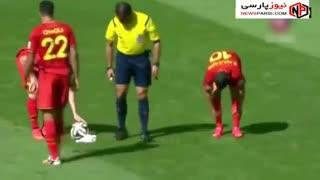 حواشی استفاده از اسپری محو شونده در بازی های فوتبال