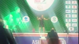 رکورد شکنی ایران در وزن 96 کیلو با سهراب مرادی