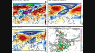 نفوذ سیستم پرفشار قطبی به همراه سرمای شدید هوا از عرض های قطبی به روی کشور  21 الی 24 آبان 97