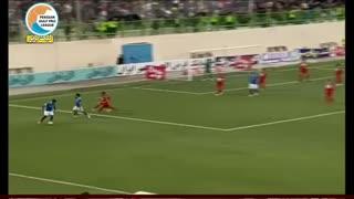 خلاصه بازی نساجی 2-0 استقلال خوزستان  _لیگ برتر ایران 97/98