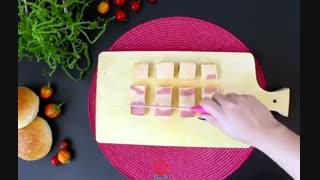 طرز تهیه کراکت کالباس و پنیر