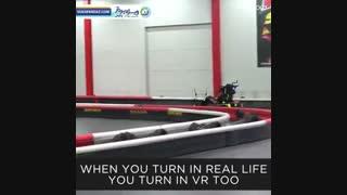 تجربه ای سرشار از هیجان در کارتینگ با واقعیت مجازی