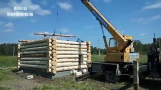 از صفر تا صدِ ساخت یک کلبه چوبی