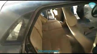 صفرشویی شستشوی داخل کابین اتومبیل با کارواش بخار