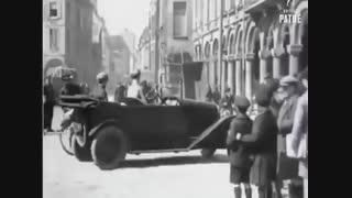 حرکت خودروهای قدیمی که دنده عقب نداشتند.