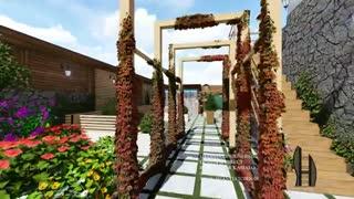 طراحی روف گاردن یا بام سبز در قم (شنتیا)