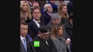 تعجب ترامپ از چرت زدن پادشاه مراکش!