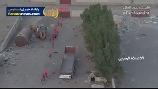 فیلمی با کیفیت از کمین حرفه ای یمنی ها برای نیروی های ائتلاف
