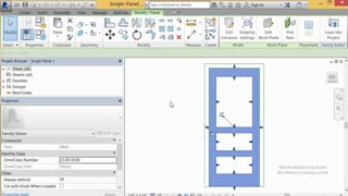 آموزش طراحی پلان درب با مشخصات کامل در Revit