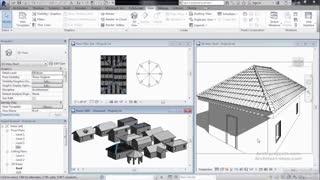 آموزش طراحی و مدل سازی سقف شیب دار در Revit