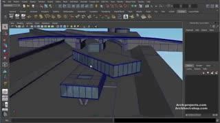 آموزش طراحی صحنه معماری در Maya و رندر VRay