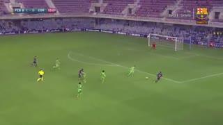 فول مچ بازی بارسلونا بی 2-1 کورنلا