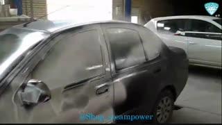 شستشوی بدنه ماشین با شامپو تاچ لس(بدون دخالت دست) زماس