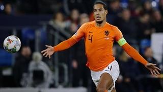 گل دوم هلند به آلمان توسط ویرجیل ون دایک