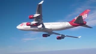 پرواز آزمایشی راکت ویرجین اوربیت به همراه بویینگ 747 اختصاصی