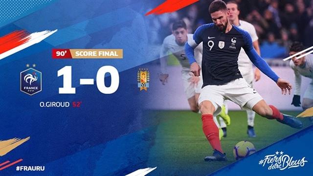 خلاصه دیدار فرانسه 1_0 اروگوئه(بازی دوستانه)