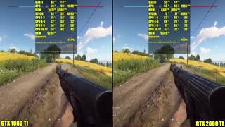 مقایسه کارت گرافیک GTX1080 Ti و RTX 2080 Ti در بازی بتلفیلد 5