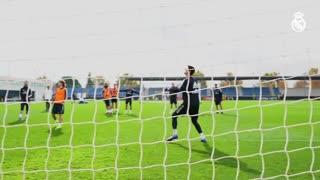 مهارتهای بازیکنان رئال مادرید در زمان تمرین