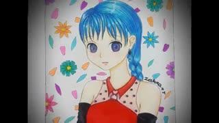 نقاشی دختر انیمه ای