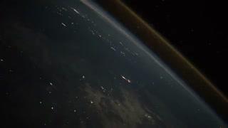 تصاویری دیدنی از لحظه ورود راکت به جو زمین از دید ایستگاه فضایی