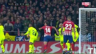 خلاصه دیدار اتلتیکو مادرید 1-1 بارسلونا (هفته سیزدهم لالیگا)