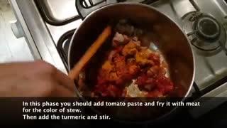 آموزش تهیه خورشت بادمجون با نارگل - Eggplant  Stew With Nargol - Tarze tahieh Khoreshte Bademjoon