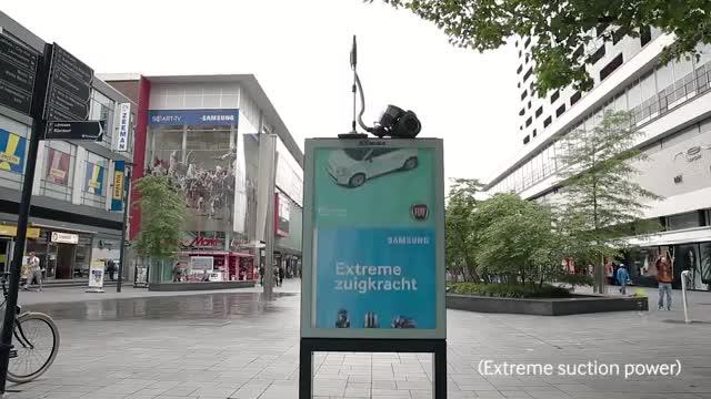تبلیغ محیطی جالب و خلاقانه سامسونگ برای جاروبرقی