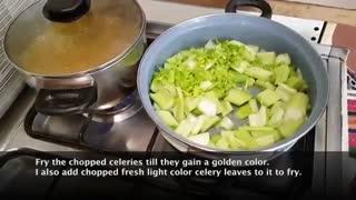 آموزش تهیه خورشت کرفس با نارگل - Celery Stew With Nargol - Tarze tahieh Khoreshte Karafs