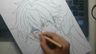 اموزش نقاشی آیاتو ساکاماکی(=^・ェ・^=)
