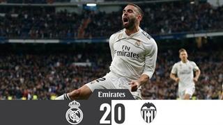 خلاصه دیدار رئال مادرید 2 _0 والنسیا؛ (هفتۀ چهاردهم لالیگای اسپانیا)