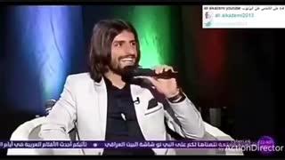 خوانندگی طارق همام در یک برنامه تلویزیونی در کشور عراق