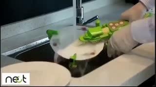 ایده جالب براى شستن ظرف | nect.ir