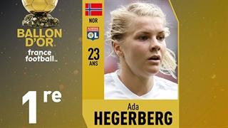 جایزۀ زن سال فوتبال جهان در دستان آدا هگربرگ