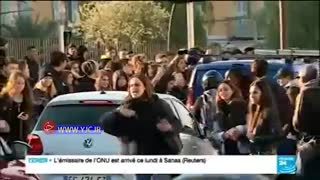 ملحق شدن دانش آموزان فرانسوی به جنبش ضد سرمایه داری