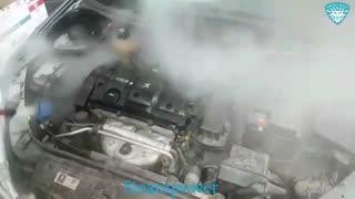 موتورشویی با بخار شستشوی موتور ماشین 206 با بخار بدون آسیب به قطعات