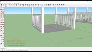 آموزش طراحی آلاچیق با اسکچاپ - قسمت 3