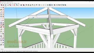 آموزش طراحی آلاچیق با اسکچاپ - قسمت 5