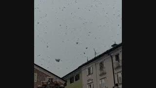 """بارش برف درشت در """"بولزانو"""" ایتالیا"""