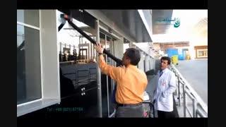 بخارشوی صنعتی - شستشوی شیشه و نما با بخارشوی