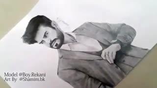 طراحی چهره بوى ریکانى  Boy Rekani Art