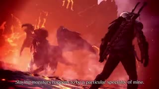 تریلر به روز رسانی  Monster HunterXWorld The Witcher