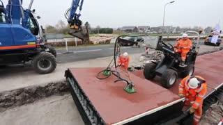 احداث جاده از جنس پلاستیک بازیافتی در هلند