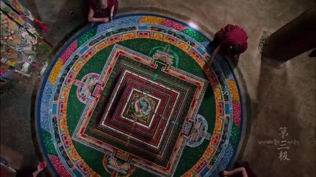 مراسم نقاشی ماندلای تبتی شنی و نابود کردن آن