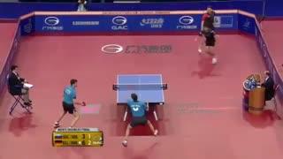 بازی زیبای دوبل پینگ پنگ