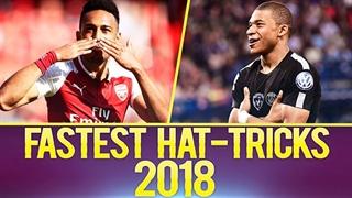 10 هتریک سریع بازیکنان فوتبال جهان در سال 2018