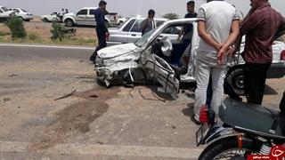 تصاویری از تصادف وحشتناک در جاده اهواز به آبادان