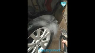 شستشو گلگیر ماشین تمیز کردن گلگیر ماشین با بخار کارواش بدون آب با بخار
