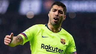 گل اول بارسلونا به لوانته توسط لوئیز سوارز